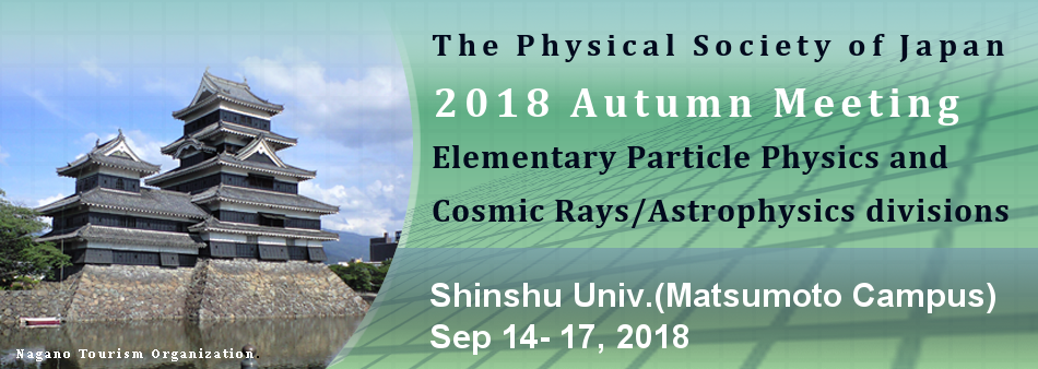 Autumn Meeting 2018 (Elementary Particle Physics, and Cosmic Rays/Astrophysics)